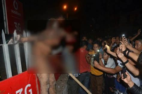 angry mob pulls rape suspect   jail  lynches