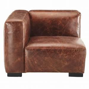 accoudoir gauche de canape en cuir marron john maisons With tapis de sol avec canapé en cuir marron vieilli