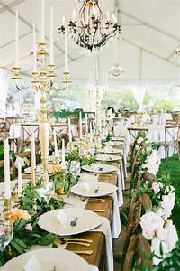 Leafy, Garland, Taper, Candle, Wedding, Centerpieces