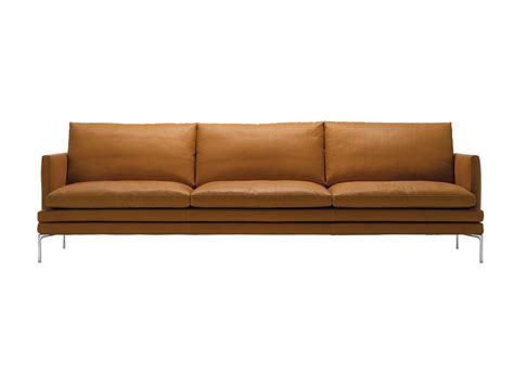 canapé cognac buy the zanotta 1330 william three seater sofa at nest co uk