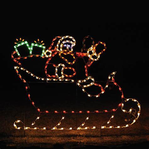 animated led santa sleigh display