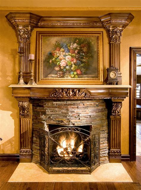 base  fireplace mantel resin base  acanthus leaf