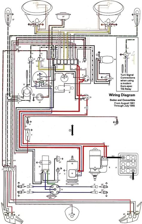 1965 Vw Starter Wiring Diagram by Free Auto Wiring Diagram 1962 1965 Vw Beetle Electrical