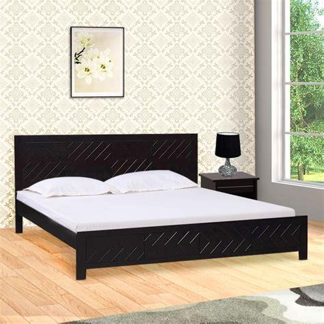 buy tuscany acacia wood king bed  dark walnut colour