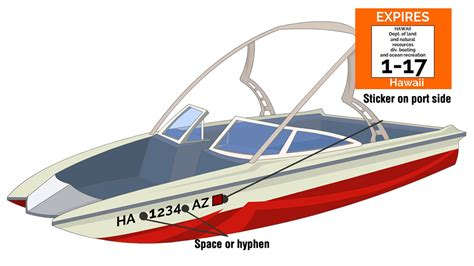 Hawaii Boat Registration Numbers by Hawaii Boat Registration Ace Boater