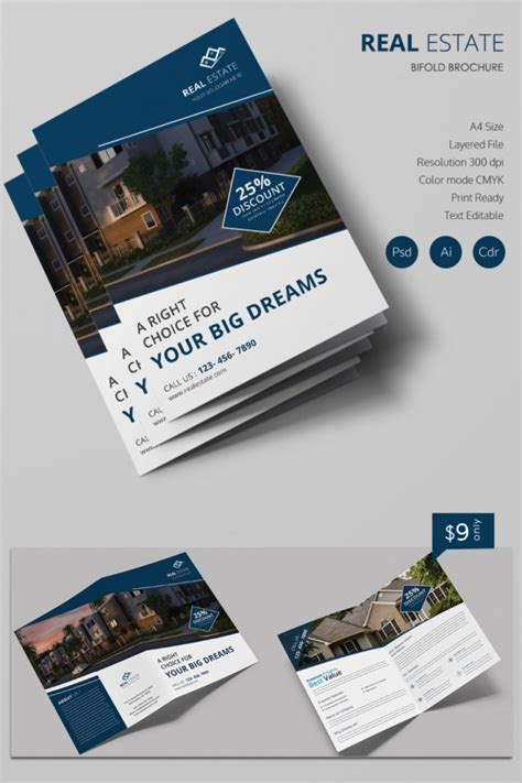 property brochure template free simple real estate a4 bi fold brochure template free premium templates