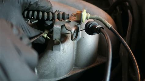 throttle bowden cable removal  installation youtube