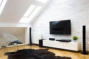 Meuble Tv Accroché Au Mur : tutoriel comment fixer son cran de t l vision au mur ~ Melissatoandfro.com Idées de Décoration