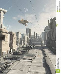 Future City Street Stock Illustration - Image: 47082018