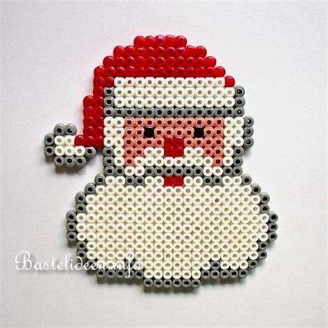 basteln mit kindern zu weihnachten buegelperlen