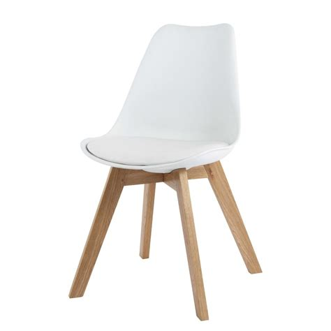 chaises blanche chaise en polypropylène et chêne blanche maisons du