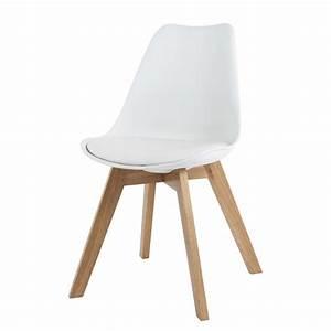 Chaise scandinave blanche Ice Maisons du Monde