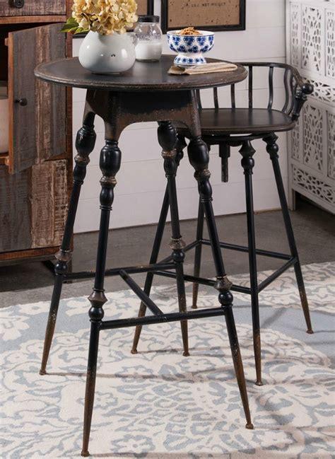 metal farmhouse bar table  chair antique farmhouse