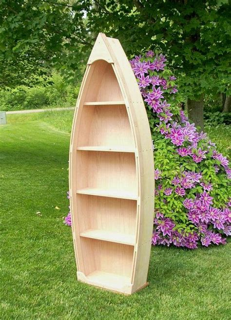 boat bookcase ideas  pinterest diy canoe