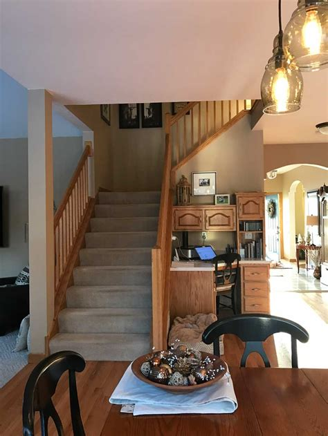 updating oak cabinets doors floors trim living