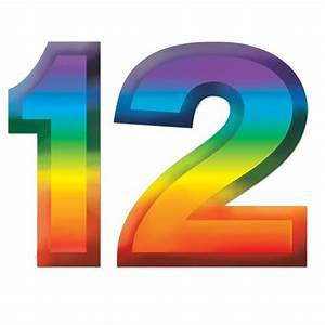 "Plastic Number ""12"" Decoration - 11"" - Party Packs"