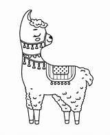 Llama Coloring Creative Print Tsgos sketch template