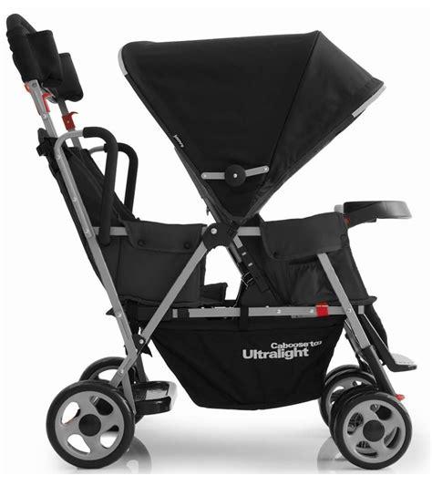 joovy caboose ultralight stand on tandem stroller in black