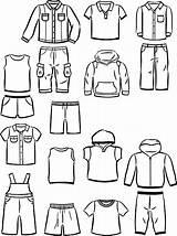 Boys Clothing Little Vector Jacket Illustration Denim Contours Clip Cartoon Illustrations Casual Jeans Similar sketch template
