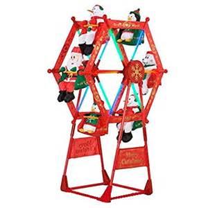 amazon com 5 rotating christmas ferris wheel w characters by gemmy christmas decor