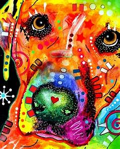 Rainbow Pop Art dog color | Hunde | Pinterest