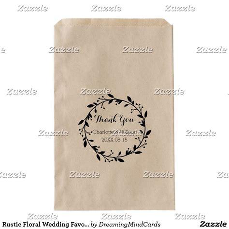 rustic floral wedding favor bags zazzlecom  images