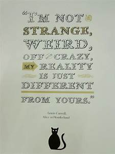 Alice in Wonderland Quote Poster handpulled screen by ...