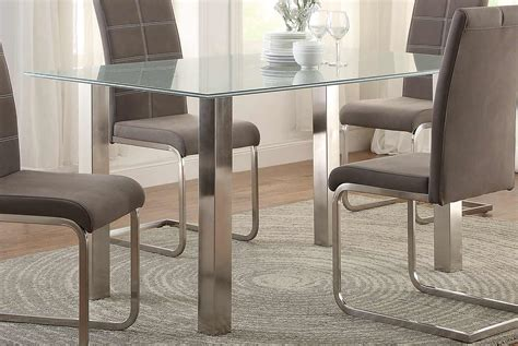 crackle glass table l homelegance nerissa dining table crackle glass top