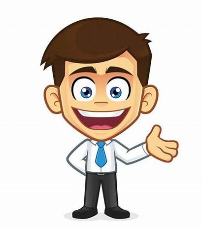 Welcoming Businessman Cartoon Clipart Affaires Homme Friendly