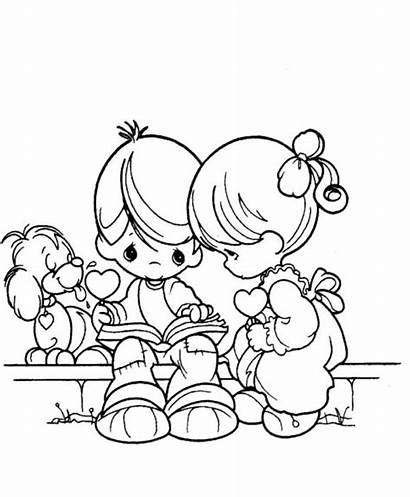 Coloring Boy Pages Kissing Gingerbread Template Printable
