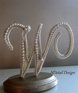 Wedding cake topper monogram letter w in ivory for Letter w cake topper