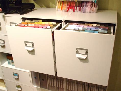 file cabinet for 12x12 paper scrapbook room organization cardstock organization