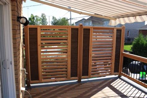privacy fence for deck or patio design