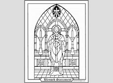 Blessed Sacrament Coloring Page