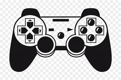 Controller Playstation Stickers Silhouette Controllers Clipart Juego