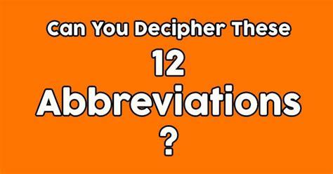 decipher   abbreviations quizpug