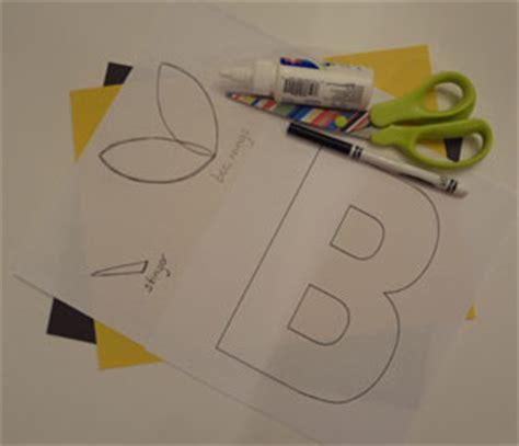 letter  bumblebee craft  kids network