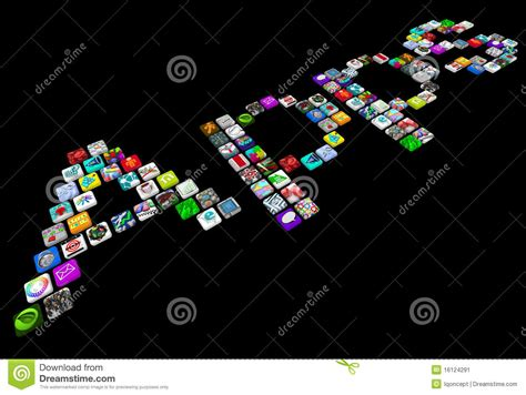 apps  tile icons  smart phone applications stock illustration image