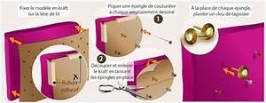 Fabriquer Tete De Lit Capitonnée : r aliser une t te de lit capitonn e d coration ~ Nature-et-papiers.com Idées de Décoration