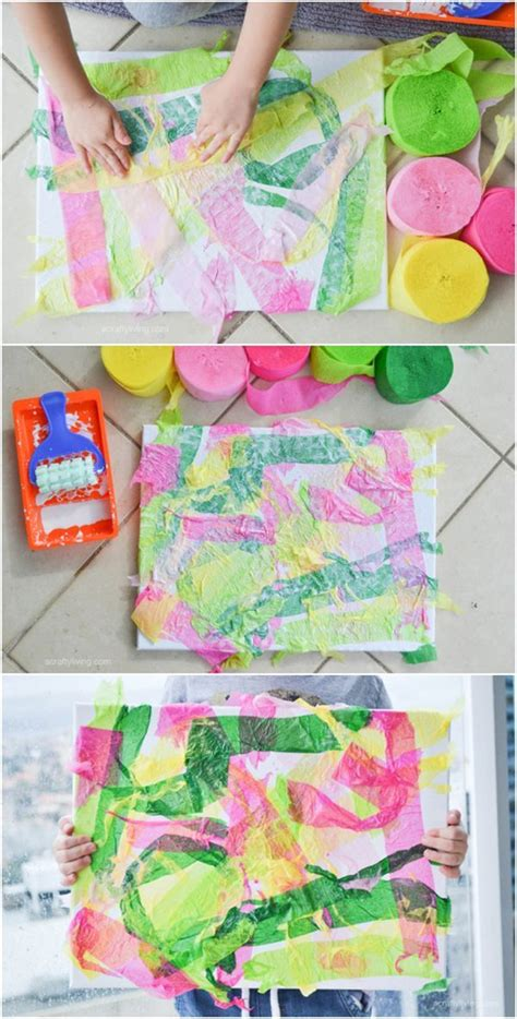 easy crepe paper canvas with projects for 893 | 9816c43e457d8e11b656763e856ddec0