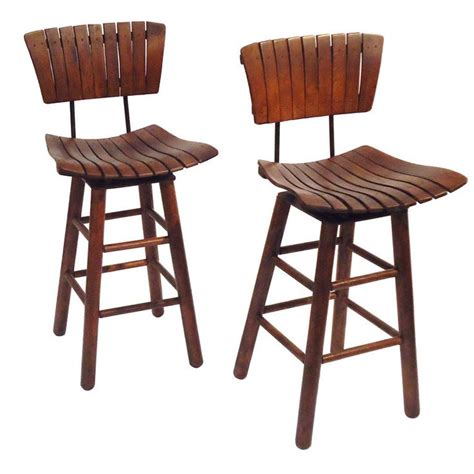 pair of rustic swivel bar stools with backs bar stool