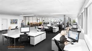 architectural visualization office interior design 04 - Model Home Interior Design