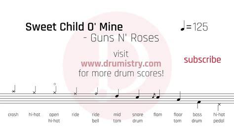 guns  roses sweet child   drum score youtube
