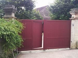 Portail 4 Metres Brico Depot : portail alu avec portillon int gr ~ Dailycaller-alerts.com Idées de Décoration