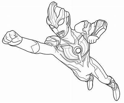 Ultraman Coloring Mewarnai Gambar Robot Ginga Sketsa