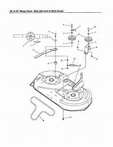 Belt  Idler Arm  Hitch Diagram  U0026 Parts List For Model
