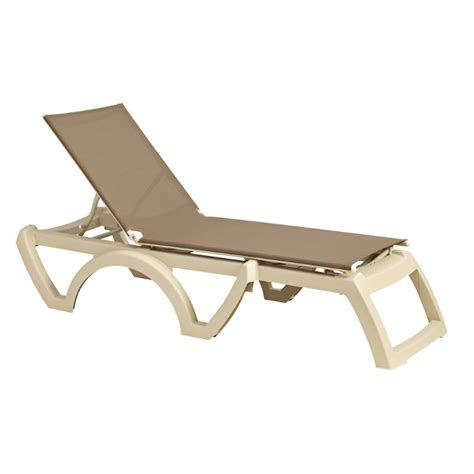 chaise longue grosfillex grosfillex calypso resin adjustable sling chaise lounge