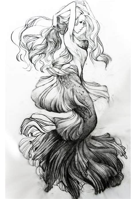 Beautiful Mermaid Tattoo Drawings Wwwpixsharkcom