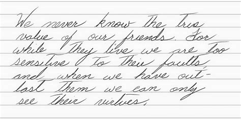 Continued Improvement In Cursive Handwriting  Walt's Thoughts