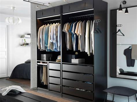 penderie chambre chambre à coucher moderne avec combinaison armoire pax